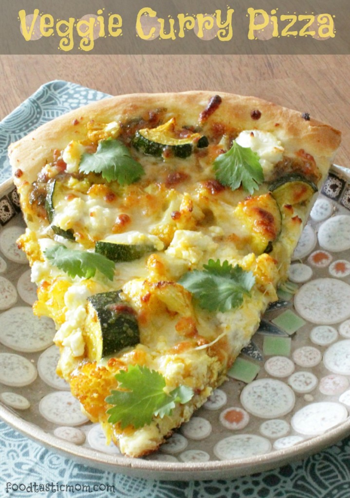 Veggie Curry Pizza by Foodtastic Mom