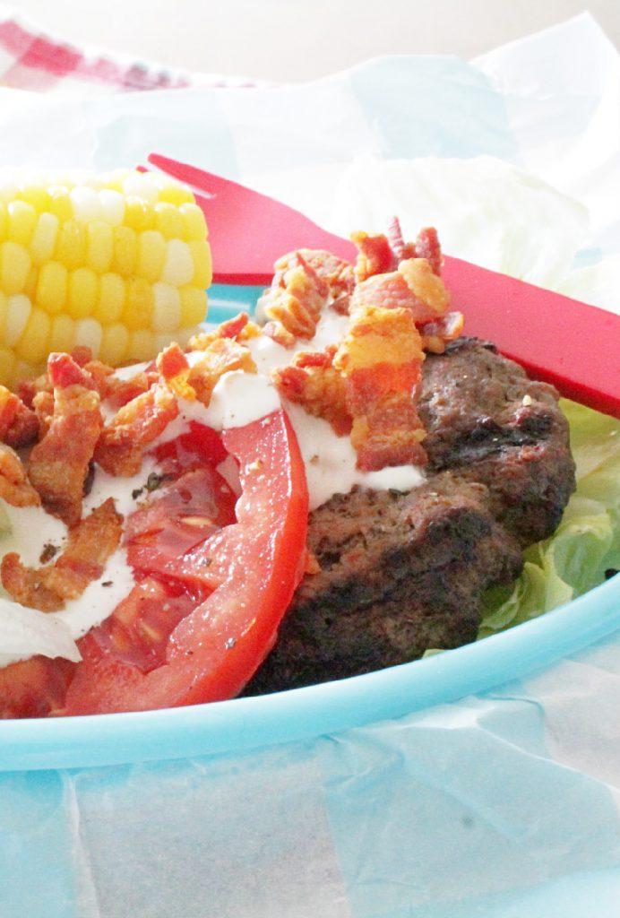 Wedge Salad Burger by Foodtastic Mom