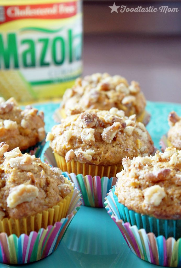 Pumpkin Apple Muffins with Mazola by Foodtastic Mom