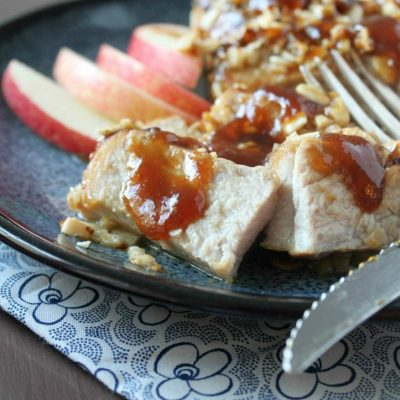 Almond Crusted Pork Chops and a Cookbook Giveaway