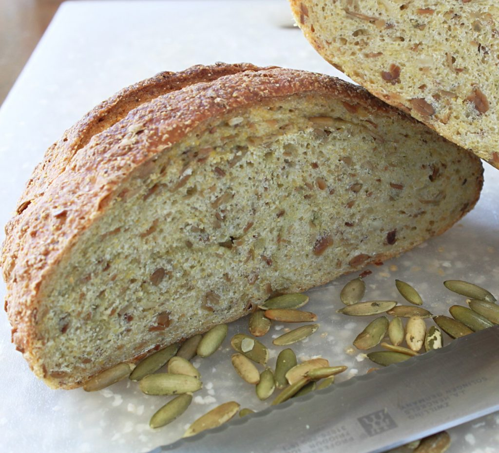 Artisan Pumpkin Seed Bread by Foodtastic Mom