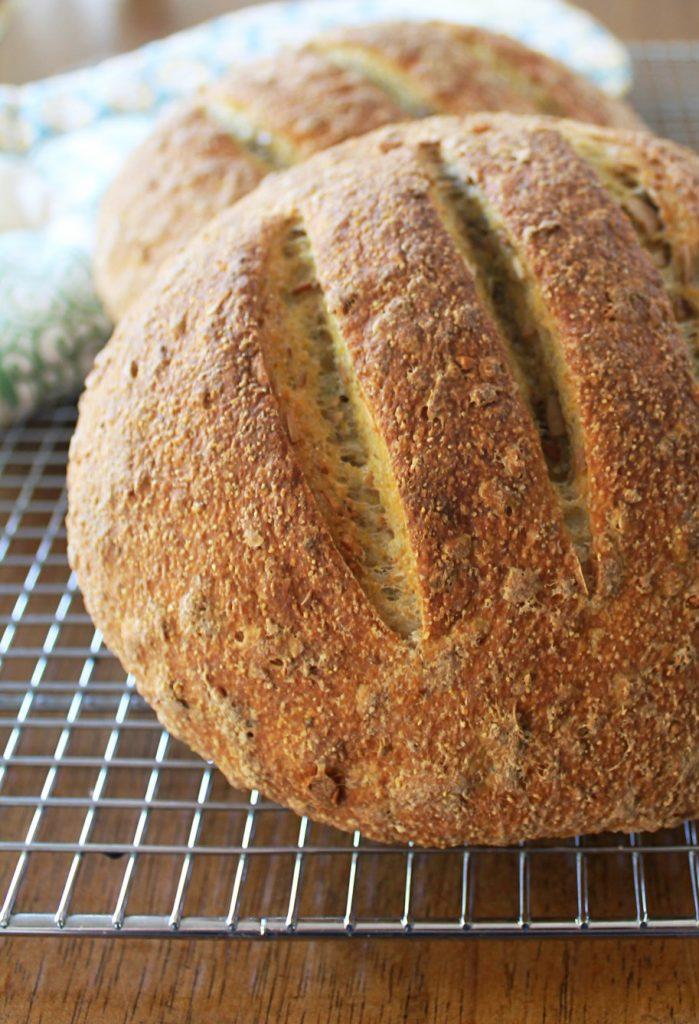 Artisan Pumpkin Seed Bread by Foodtastic Mom