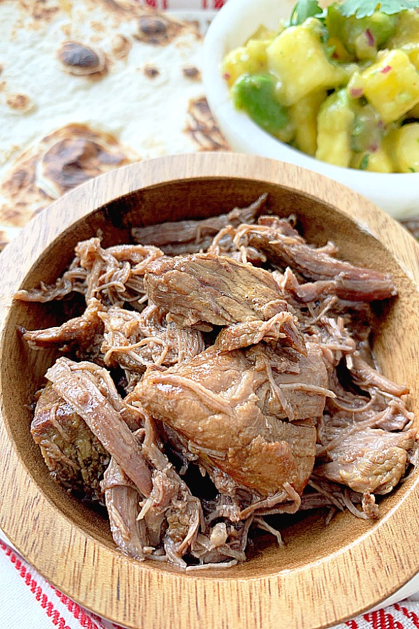 close of short rib taco meat