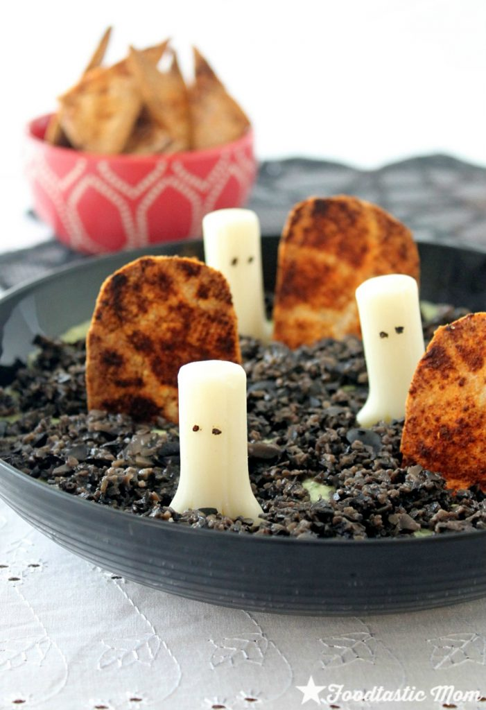 Ghost in the Graveyard Dip with California Black Olives by Foodtastic Mom