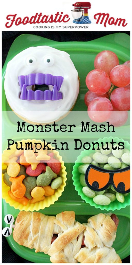 Monster Mash Pumpkin Donuts by Foodtastic Mom