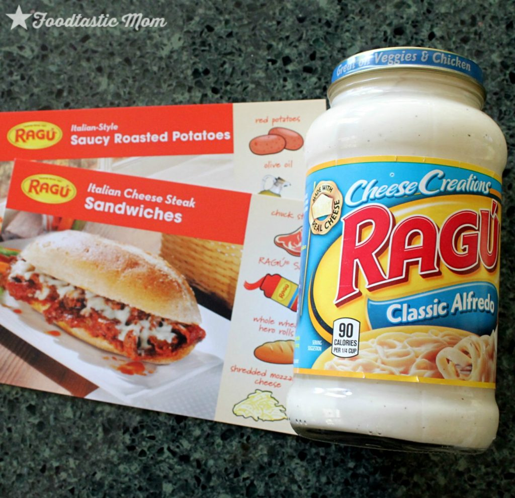Philly Cheesesteak Potato Skins with Ragú Classic Alfredo Sauce by Foodtastic Mom