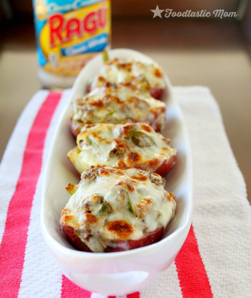 Philly Cheesesteak Potato Skins with Ragú Classic Alfredo Sauce by ...