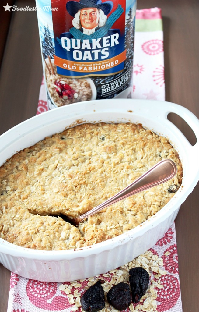 #QuakerUp with Figgy Pudding Baked Oatmeal by Foodtastic Mom
