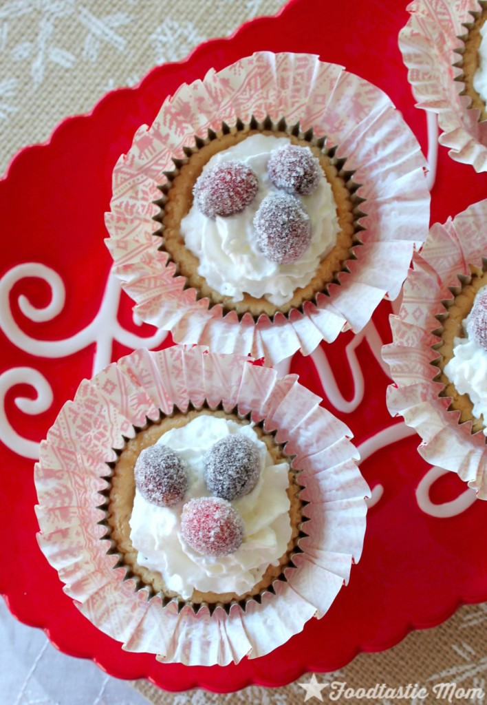 White Chocolate Cranberry Cheesecakes by Foodtastic Mom