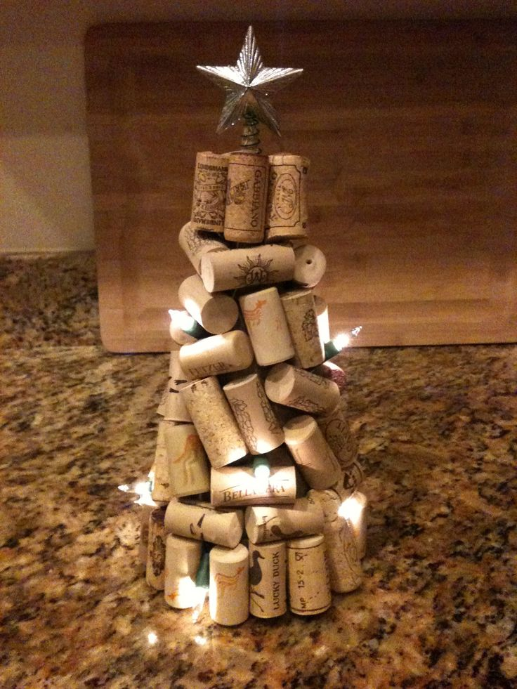 Wine Cork Christmas Tree by The Wooden Bee