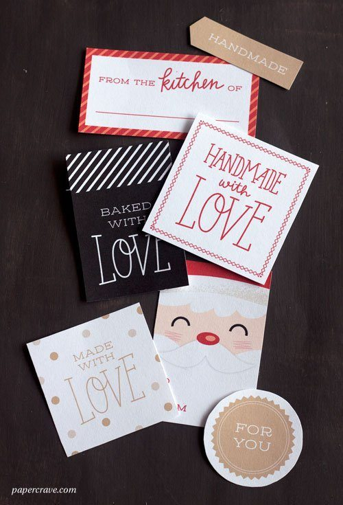 Free Printable Holiday Tags by Paper Crave