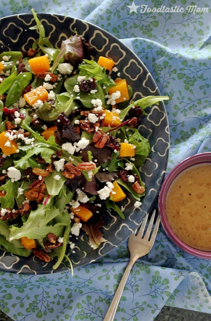 Harvest Salad with Sugared Pecans by Foodtastic Mom