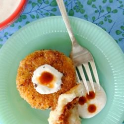 Potato Ham Croquettes with Chipotle Tabasco Sauce by Foodtastic Mom