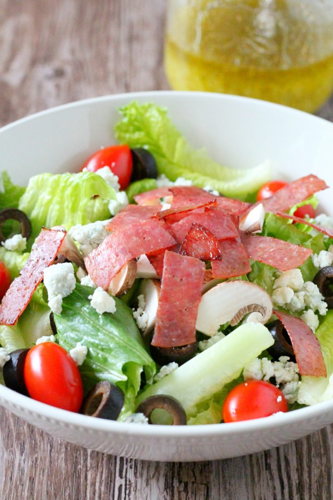 Copycat Lou Malnati's Salad by Foodtastic Mom