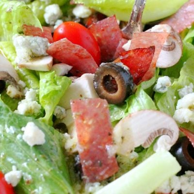 Copycat Lou Malnati's Salad by Foodtastic Mom