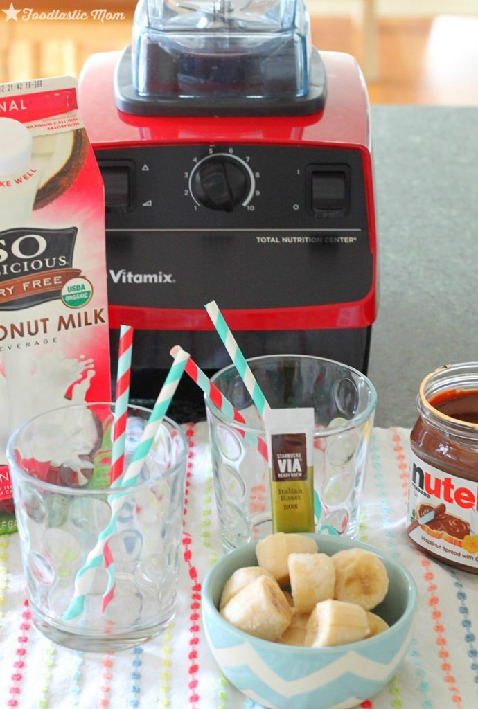 Nutella Mocha Banana Smoothie by Foodtastic Mom