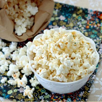 Low-Cal Microwave Herbed Popcorn