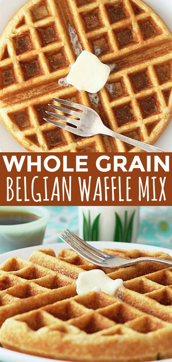 Whole Grain Waffle Mix | Foodtastic Mom #wafflerecipe #waffles