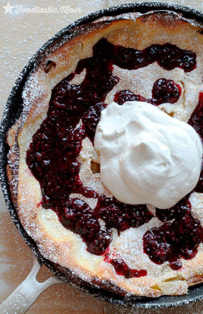 Asian Pear Dutch Baby with Blackberry Syrup by Foodtastic Mom #oxocookware