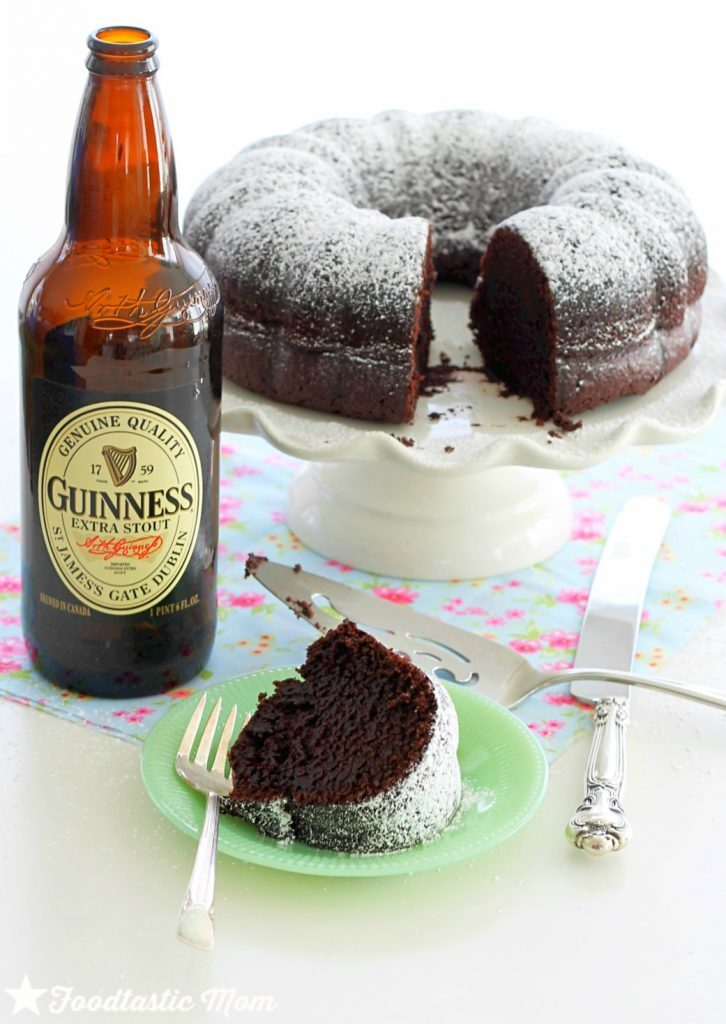 Guinness Chocolate Bundt Cake by Foodtastic Mom