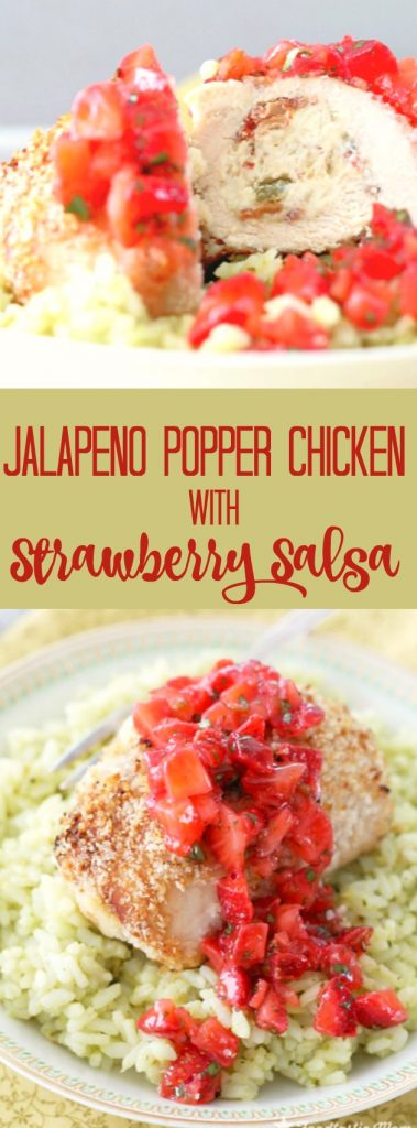Jalapeño Popper Chicken with Strawberry Salsa