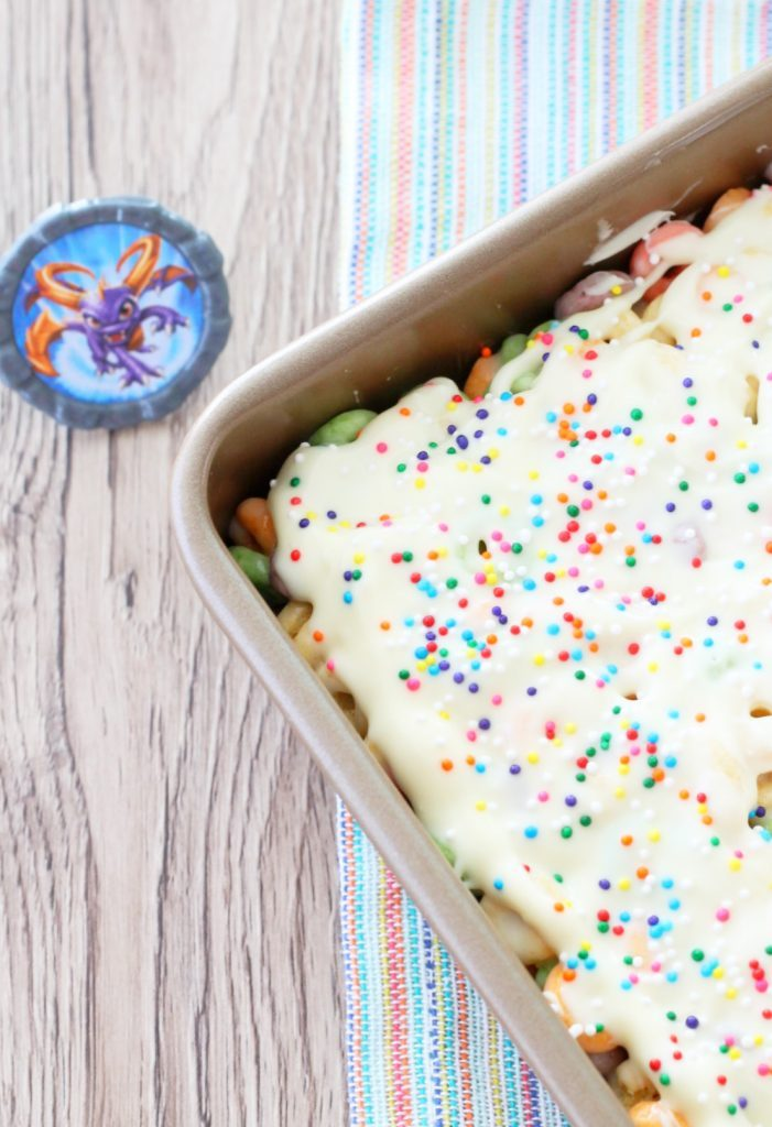 Celebration Squares with Fruity Cheerios by Foodtastic Mom