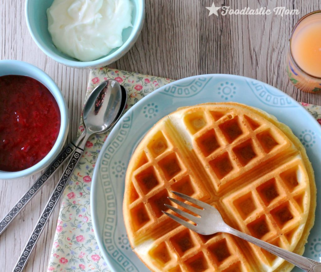 Strawberry Cheesecake Waffles by Foodtastic Mom
