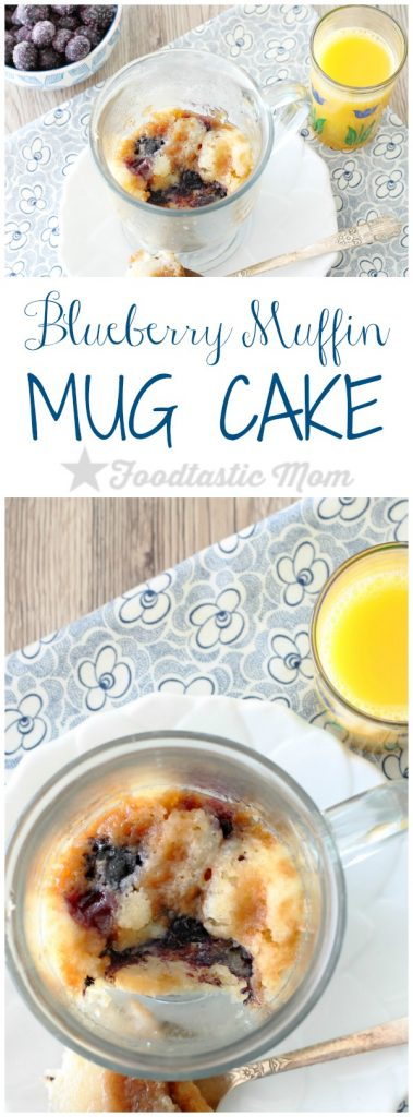 Blueberry Muffin Mug Cake by Foodtastic Mom