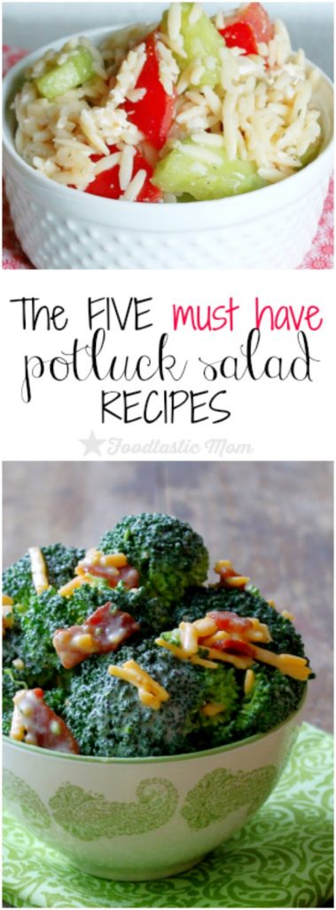 The Five Must Have Potluck Salad Recipes by Foodtastic Mom