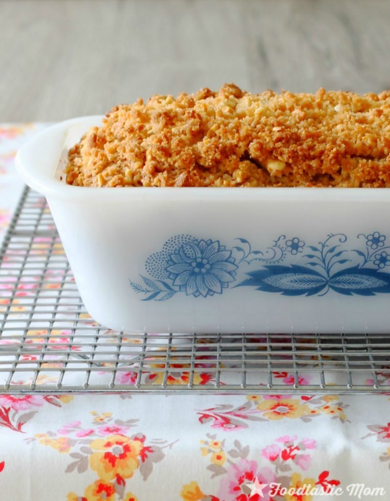 Rhubarb Quick Bread with Almond Streusel by Foodtastic Mom