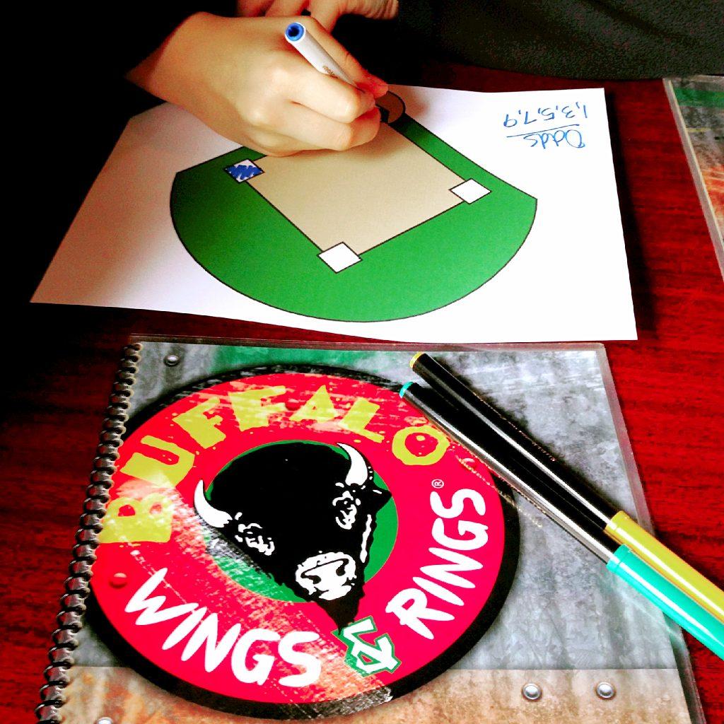 Buffalo Wings and Rings Restaurant Review and Baseball Printable
