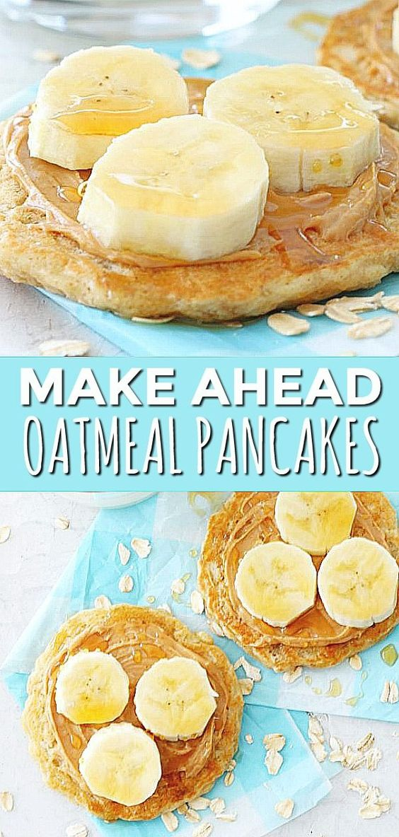 Make Ahead Oatmeal Pancakes | Foodtastic Mom #pancakes #pancakerecipe