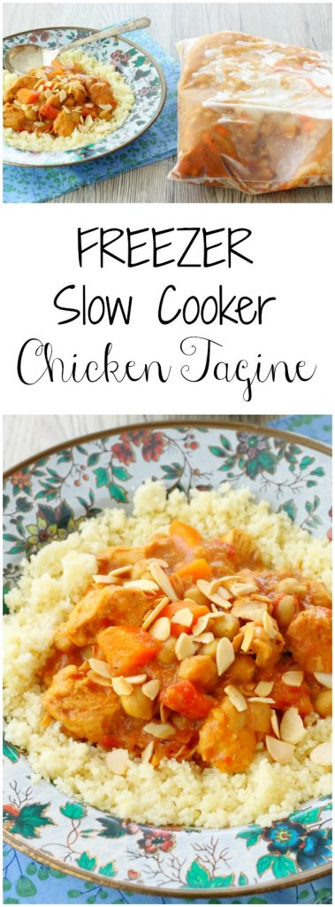 Freezer Slow Cooker Chicken Tagine by Foodtastic Mom #freezerfridays