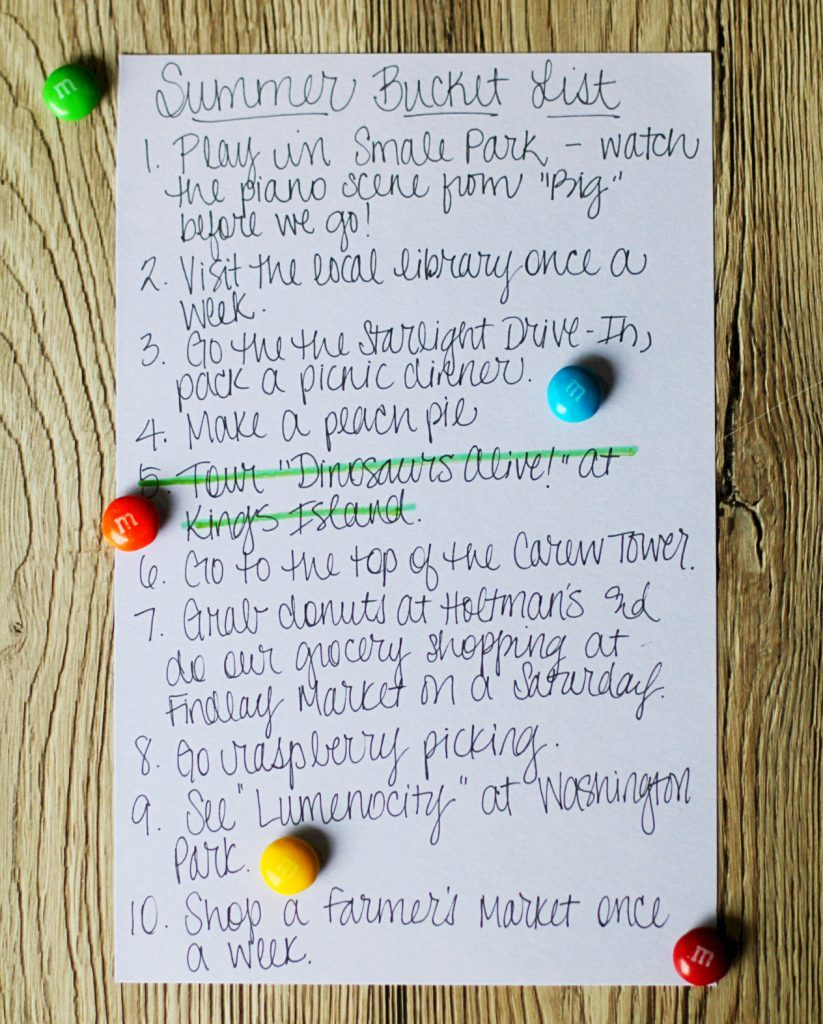 Summer Bucket List and Mix by Foodtastic Mom #ShareFunshine