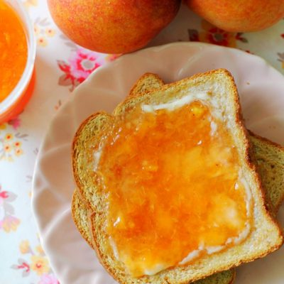 Freezer Peach Jam by Foodtastic Mom