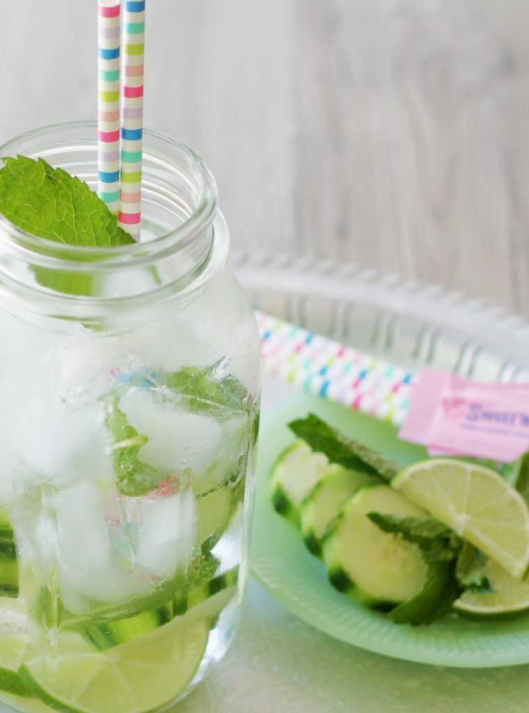 Sparkling Spa Water with Sweet'N Low® Zero Calorie Sweetener by Foodtastic Mom