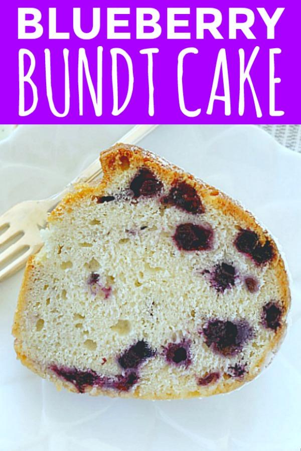 Blueberry Bundt Cake | Foodtastic Mom #bundtcake #cakerecipes