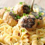 Pork Apple Meatballs with Hard Cider Gravy by Foodtastic Mom
