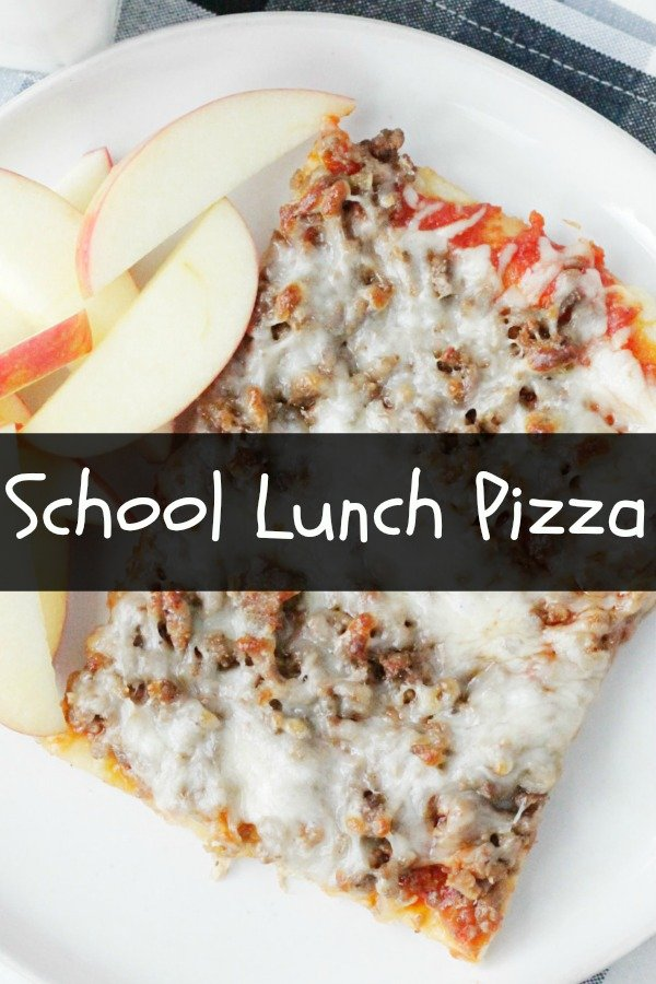 Copycat Lunch Lady Pizza | Foodtastic Mom #backtoschool #pizza #copycatrecipe #pizzarecipe #schoolpizza