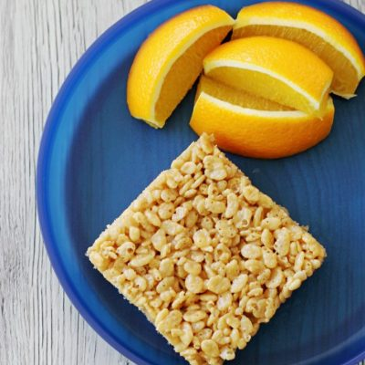 Krispie Treats for Athletes by Foodtastic Mom