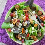 Candied Walnut and Grape Salad by Foodtastic Mom