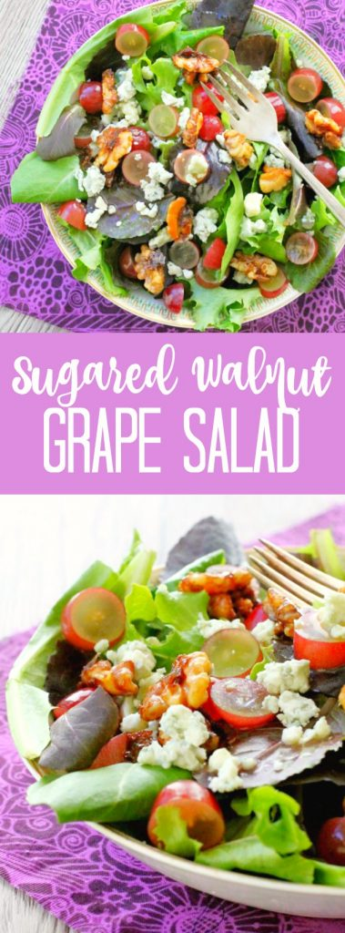 Sugared Walnut Grape Salad