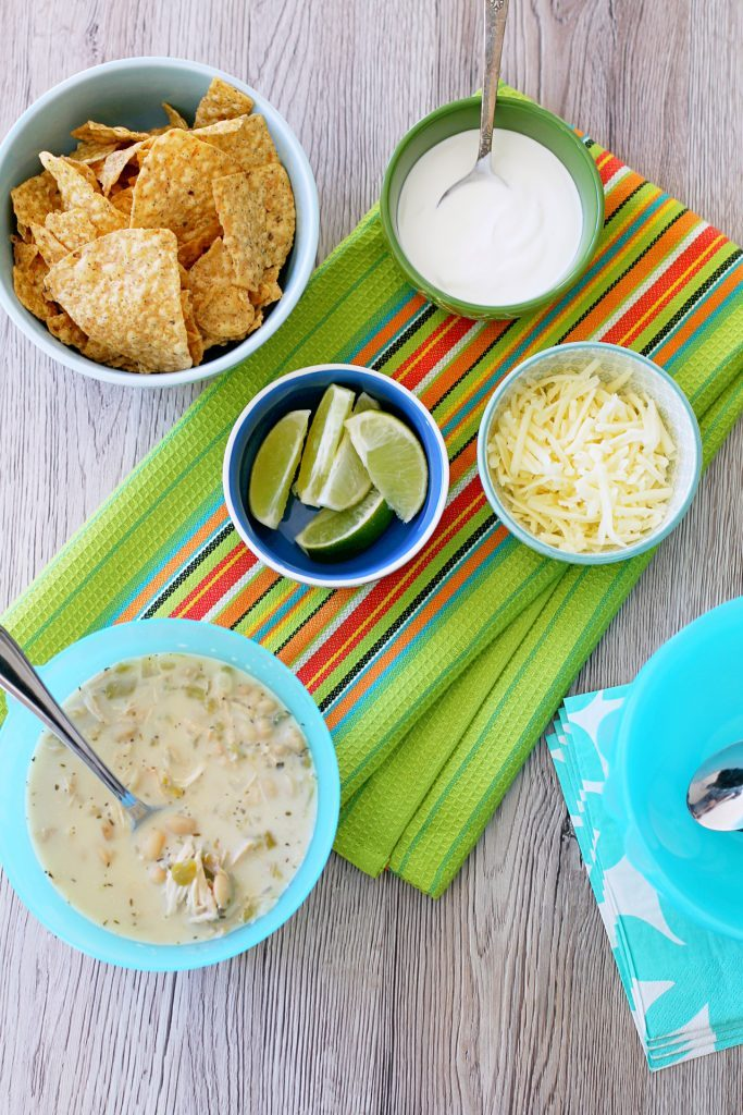 White Chicken and Bean Tortilla Chili by Foodtastic Mom