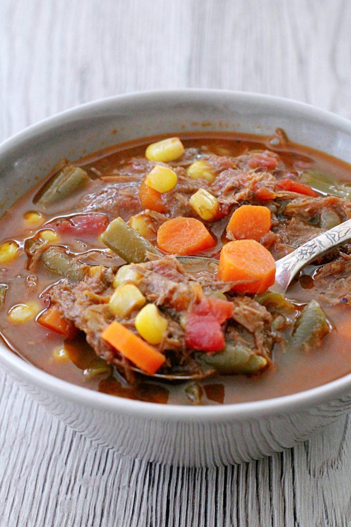 Beef Vegetable Soup By Foodtastic Mom