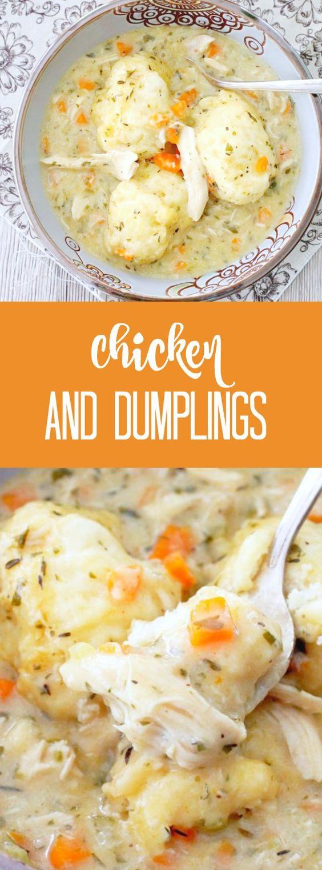 Simply Delicious Chicken and Dumplings | Foodtastic Mom