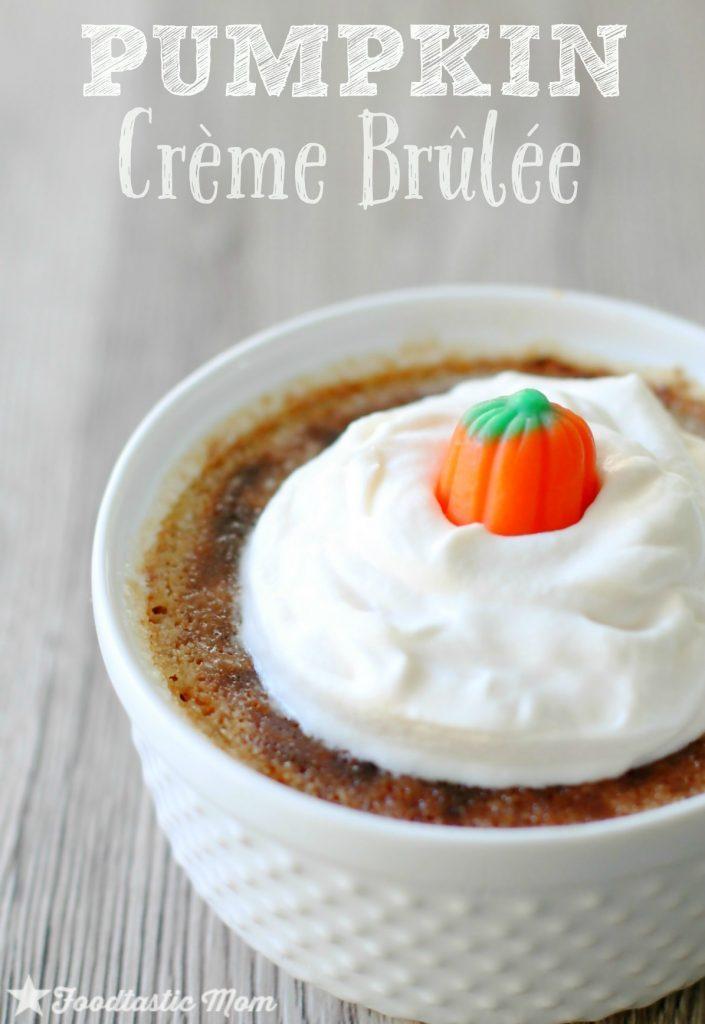 Pumpkin Creme Brûlée by Foodtastic Mom