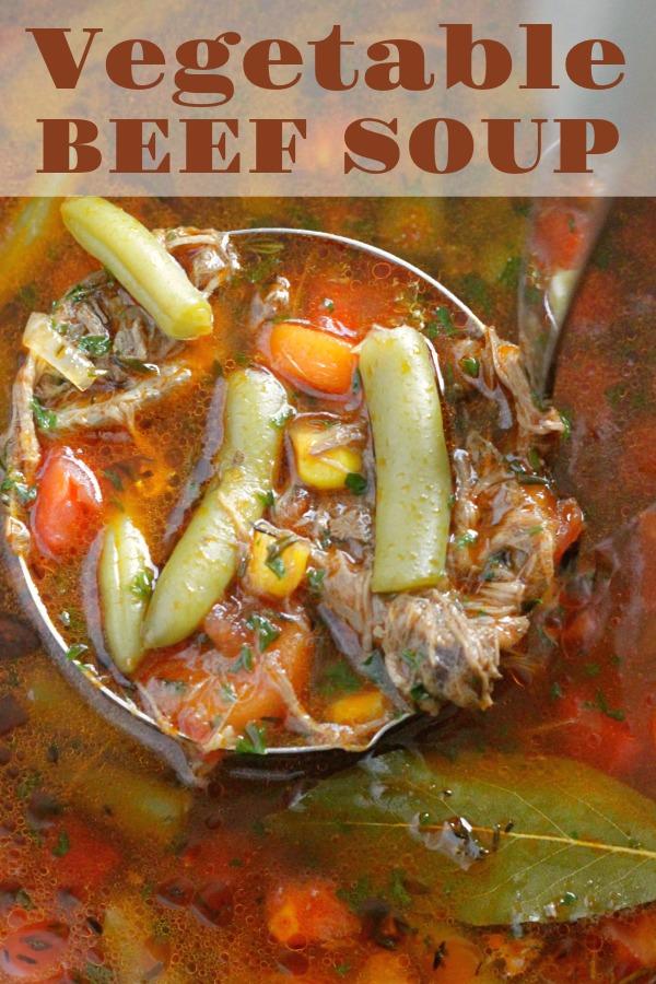 Beef Vegetable Soup | Foodtastic Mom