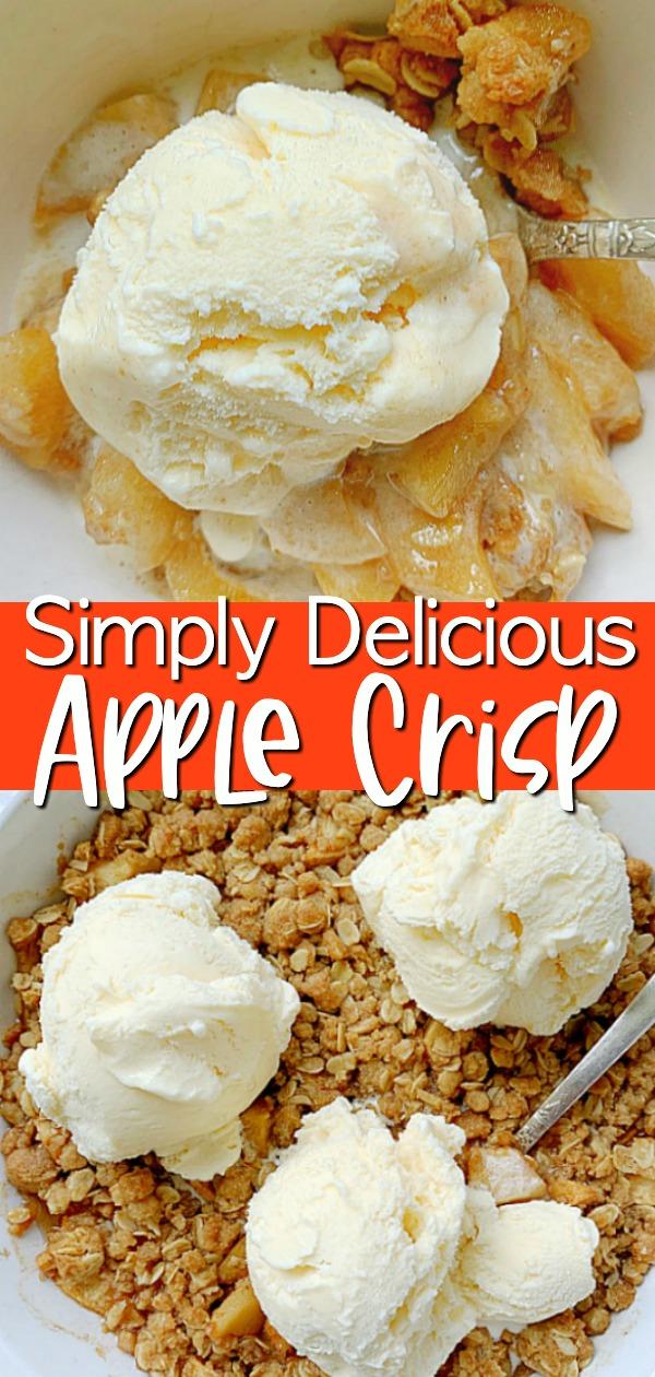 Simply Delicious Apple Crisp | Foodtastic Mom #applecrisp #applerecipes #applecrisprecipeeasy via @foodtasticmom