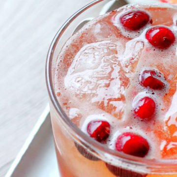 Cranberry Bourbon Fizz by Foodtastic Mom #donthesitaste