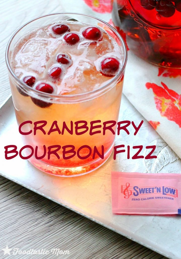 Cranberry Bourbon Fizz by Foodtastic Mom #donthesitaste